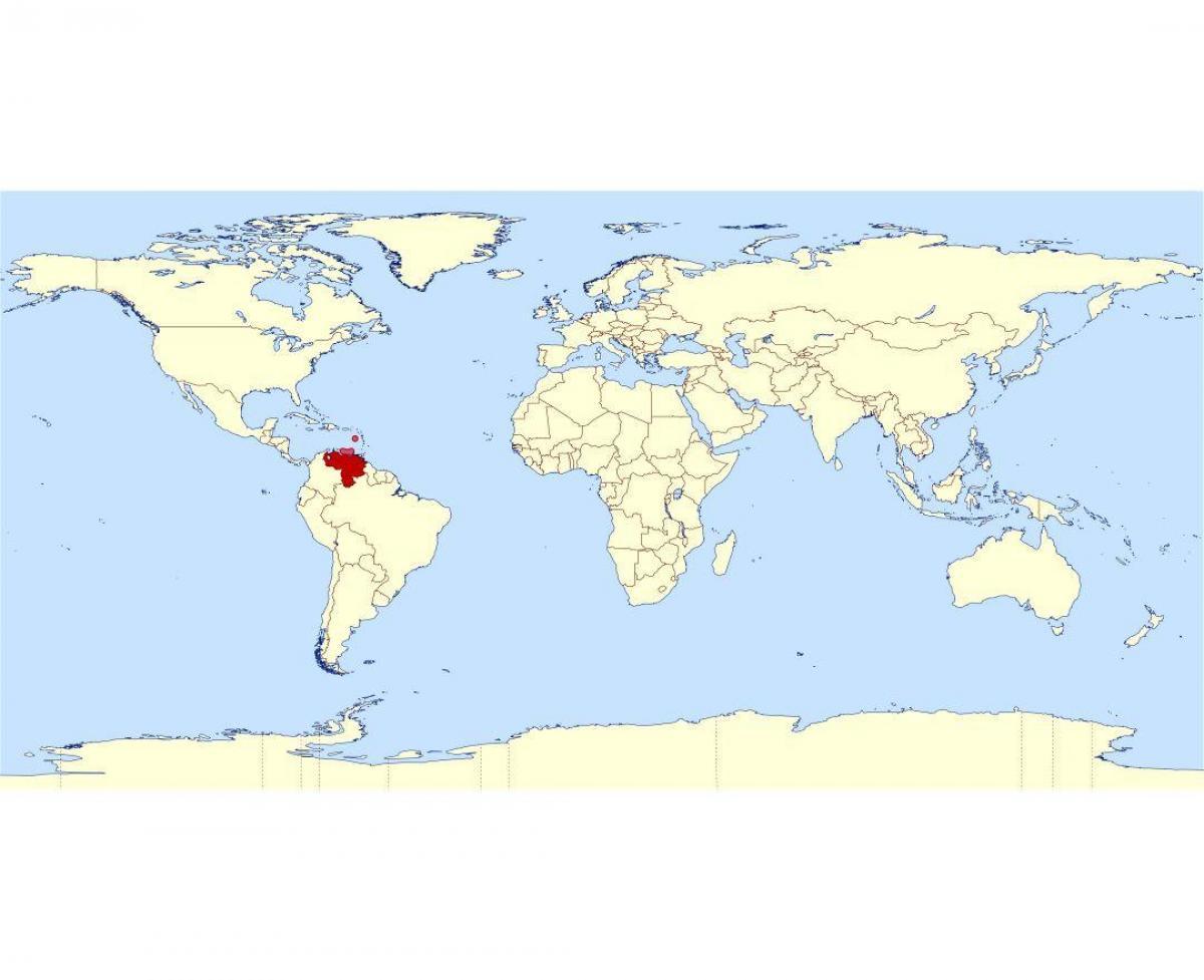 Venezuela I Kort Verden Venezuela Placering I Verden Kort Syd