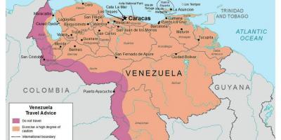 Venezuela Kort Kort Venezuela Syd Amerika Amerika